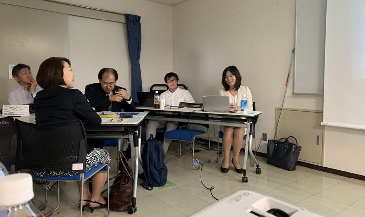 写真:2019年10月 横浜中央支部例会の模様